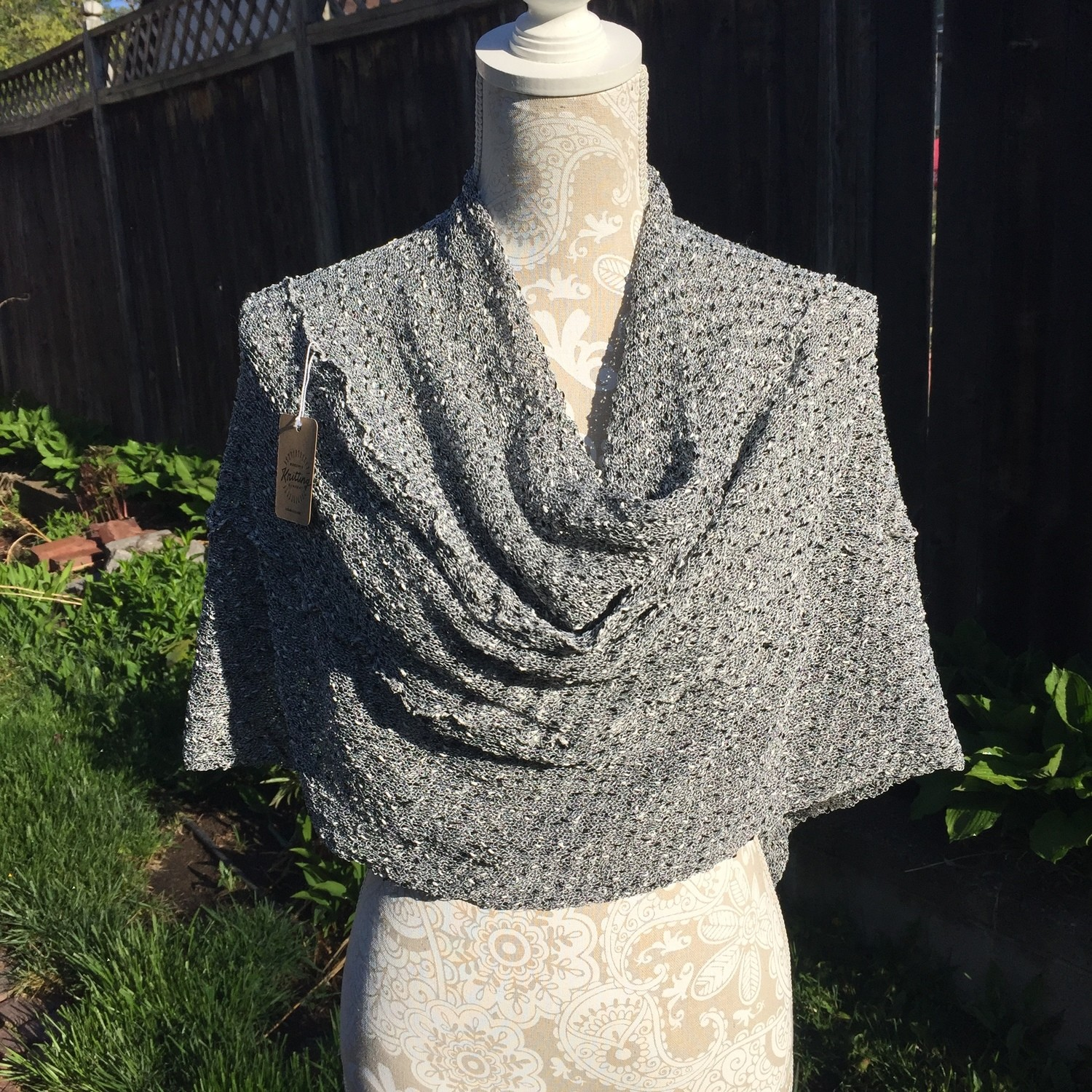 Frilly Black & White Poncho