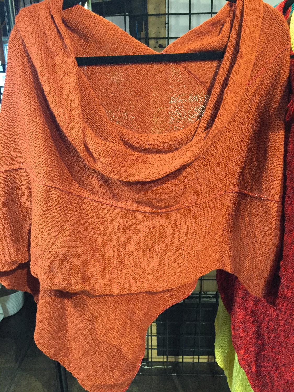 Burnt Orange Poncho