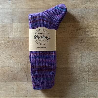 Woman's Crew Socks Size 7 to 8 - Purple Sporttrack