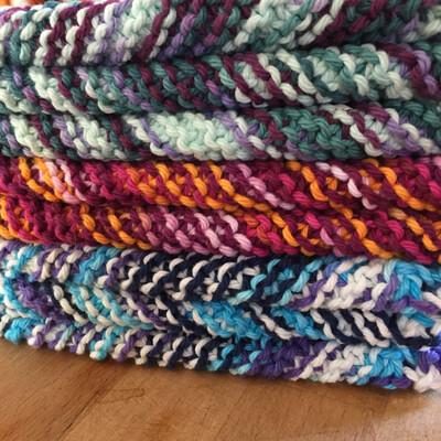 Cotton Washcloth - Various knit