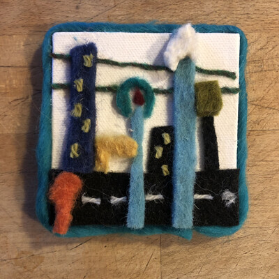 Yarn Art - Streetscape 3x3""