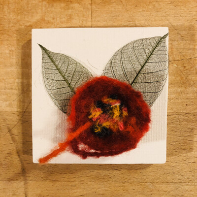 Yarn Art - Flower Poppy Red 3x3""