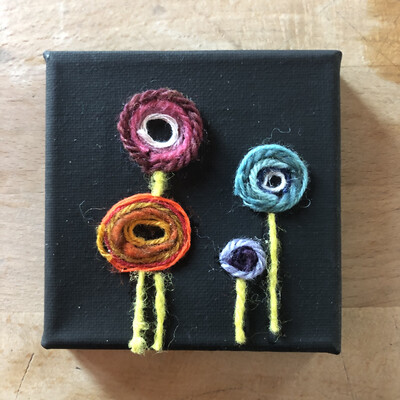Yarn Art - Flower Pops 4x4""