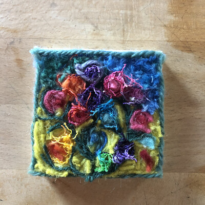 Yarn Art - Gogh Flowers 3x3""