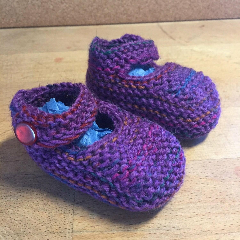 Baby Jane Booties - Purple - Newborn
