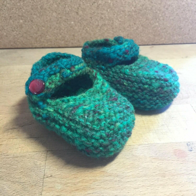 Baby Jane Booties - Green - Newborn