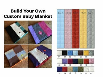 Build Your Own Baby or Lap Blanket - Complete Custom Gift