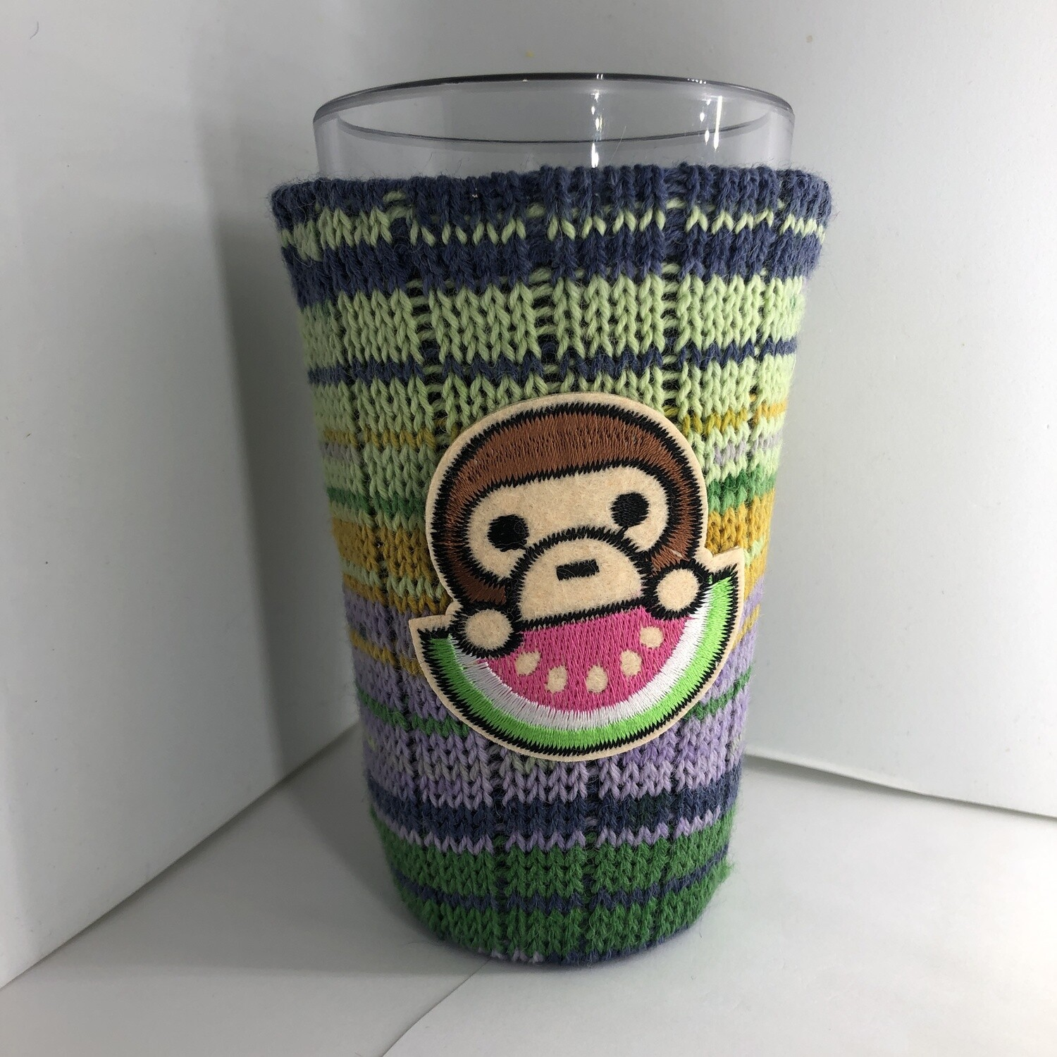 Summertime Monkey Koozie - Cup Holder - Watermelon