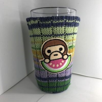 Summertime Monkey Koozie - Cup Holder - Watermelon