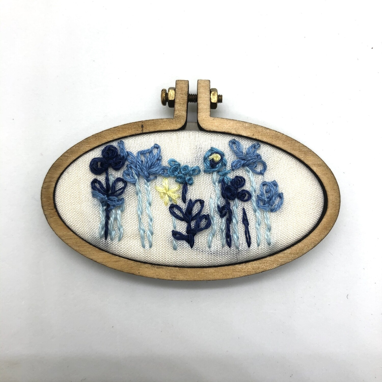 Mini Blues - Embroidered Magnet