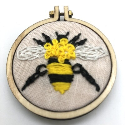 Bumblebee Mini - Embroidered Magnet