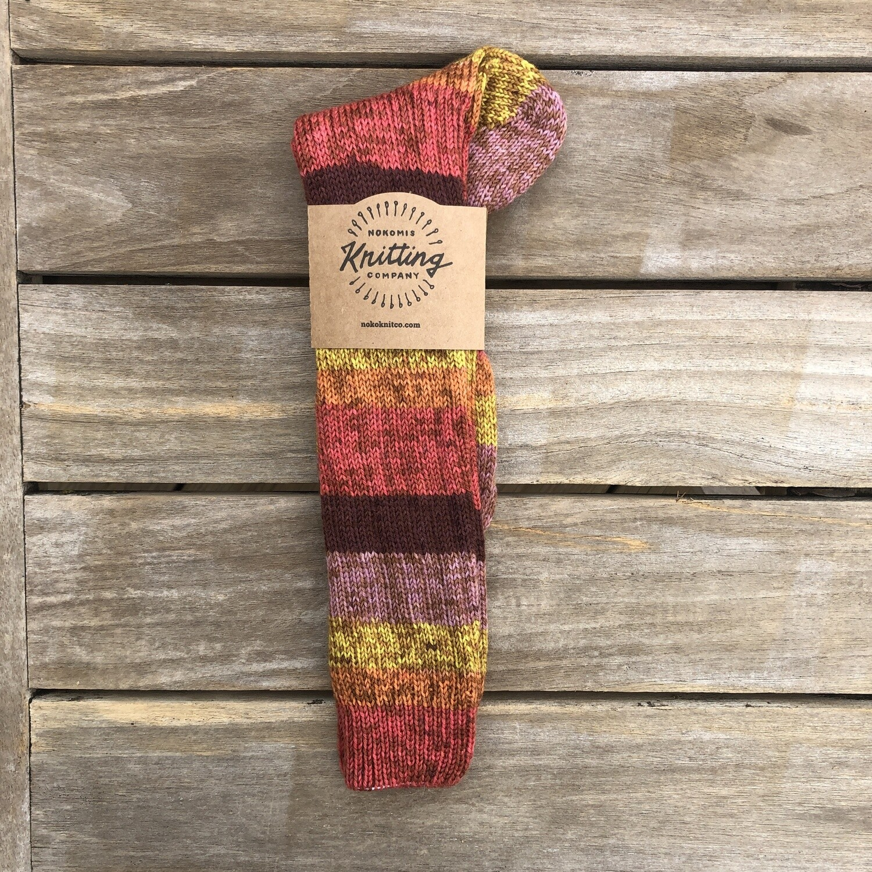 Women's Tall Socks Size 7 to 8 - Spot Strawberry