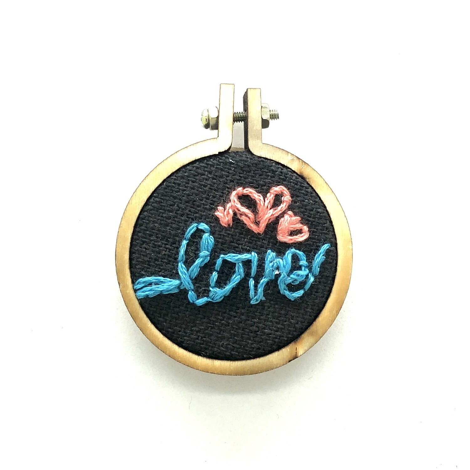 Love Pop - Embroidered Pendant or Magnet
