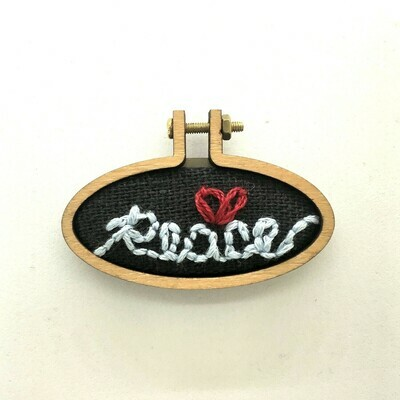 Message of Peace - Embroidered Pendant or Magnet