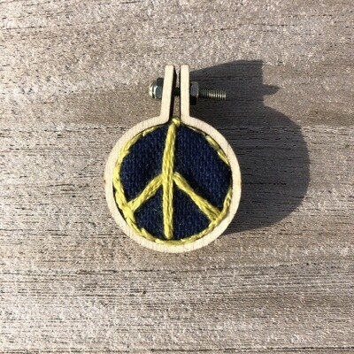 Peace Sign - Embroidered Pendant or Magnet