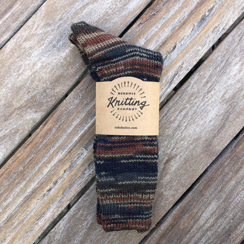 Men's Crew Socks Size 11 to 12 - Dark Whiskey