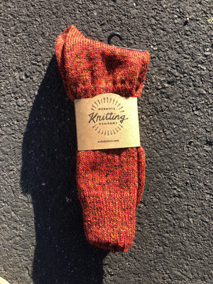 Men's Crew Socks Size 10 to ll - Red Fjord