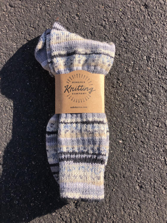Men's Crew Socks Size 12 to 13 - Iceberg Gray White Black