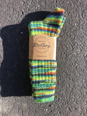 Women's Crew Socks Size 8 To 9 - Verde Neon Green