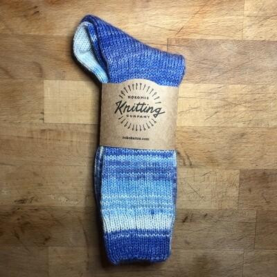Women's Crew Socks Size 8 to 9 Blue Jeans