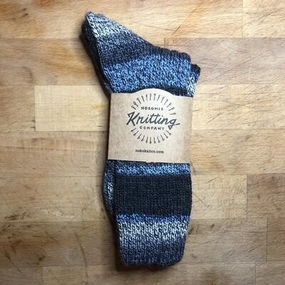 Women's Crew Socks Size 8 to 9 Italy Etna Blue