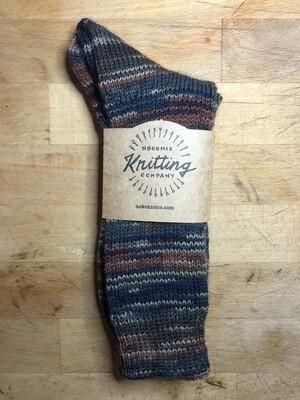 Women's Crew Socks Size 9 - 10 - Whiskey Brown Blue