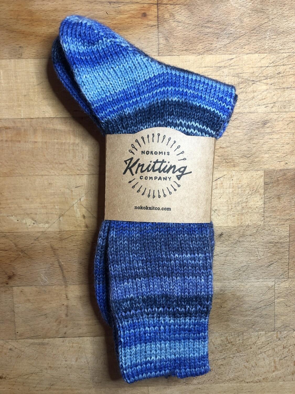Men's Crew Sock Size 11 - 12 Denim Marine Blue