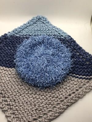 Washcloth & Scrubbie Set - Denim Blues