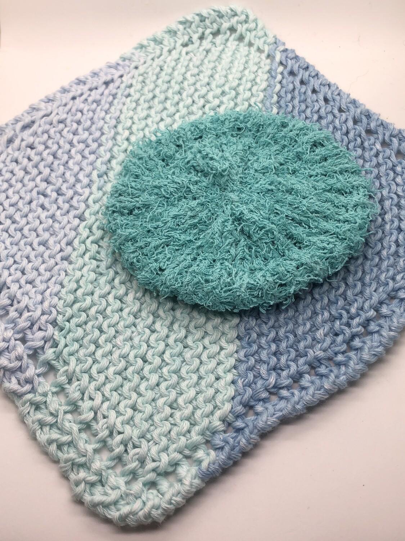 Washcloth & Scrubbie Set - Ocean Blue