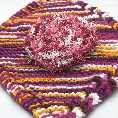 Washcloth & Scrubbie Set - Standout Pink and Orange