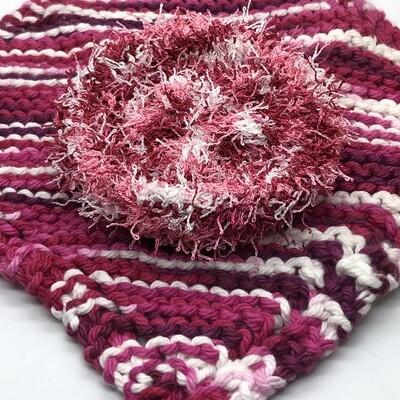 Washcloth & Scrubbie Set - Love Pink