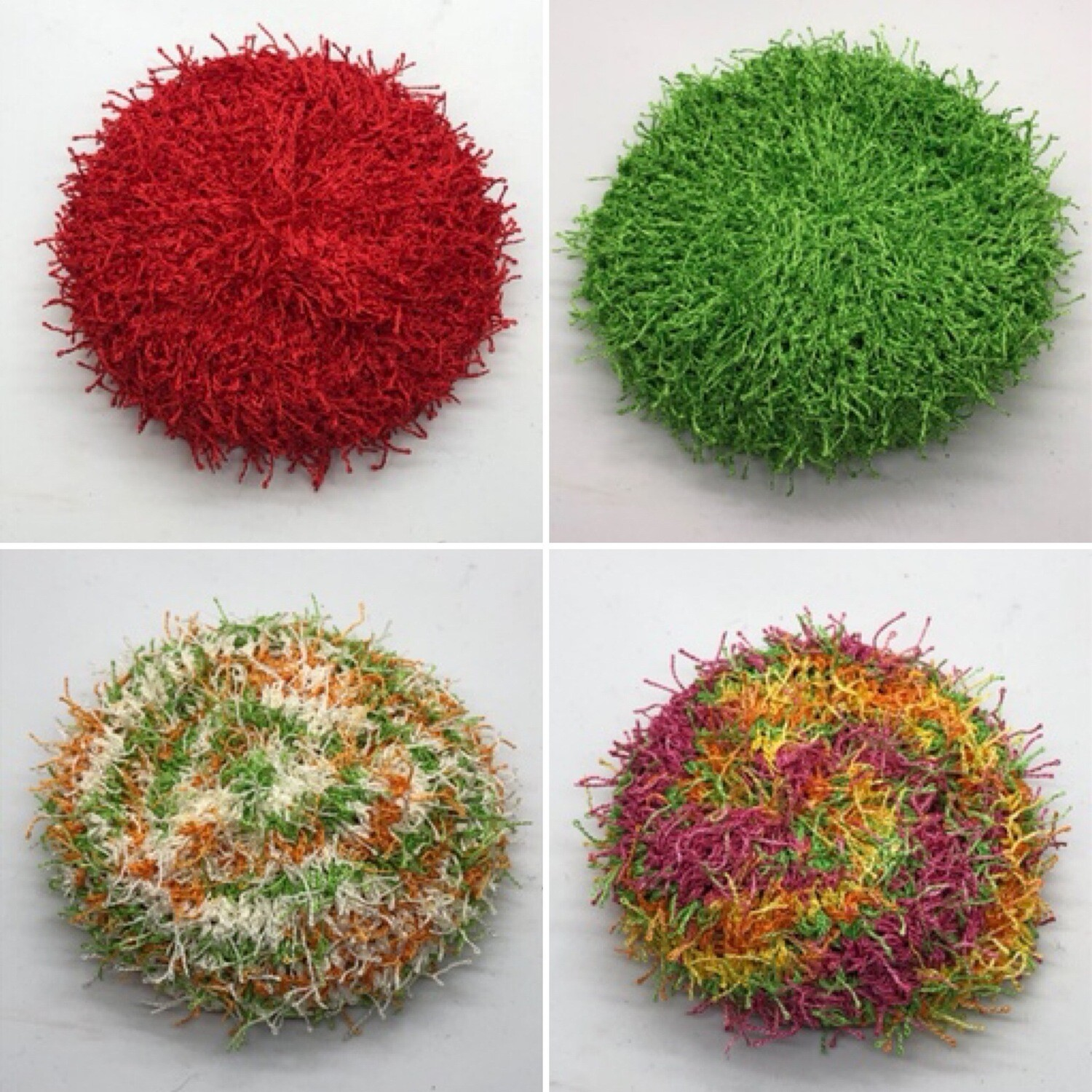 Red, Green, Orange Scrubbies