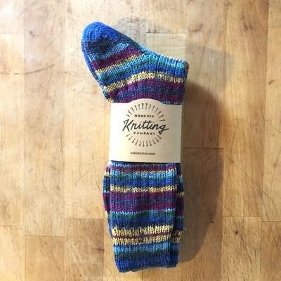 Women's Crew Socks Size 10 to 11 - Blue Desert