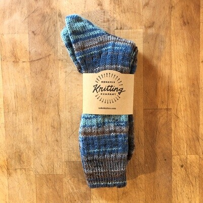 Women's Crew Socks Size 10 to 11 - Dublin Blue