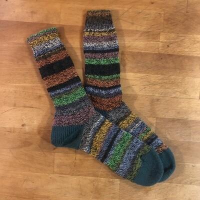 Women's Crew Socks Size 9 to 10 - Italy Toscana Frankensocks