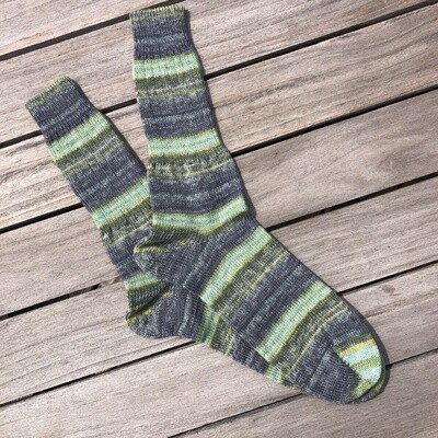 Men's Crew Sock Size 12-13 Inishmoore Green and Gray