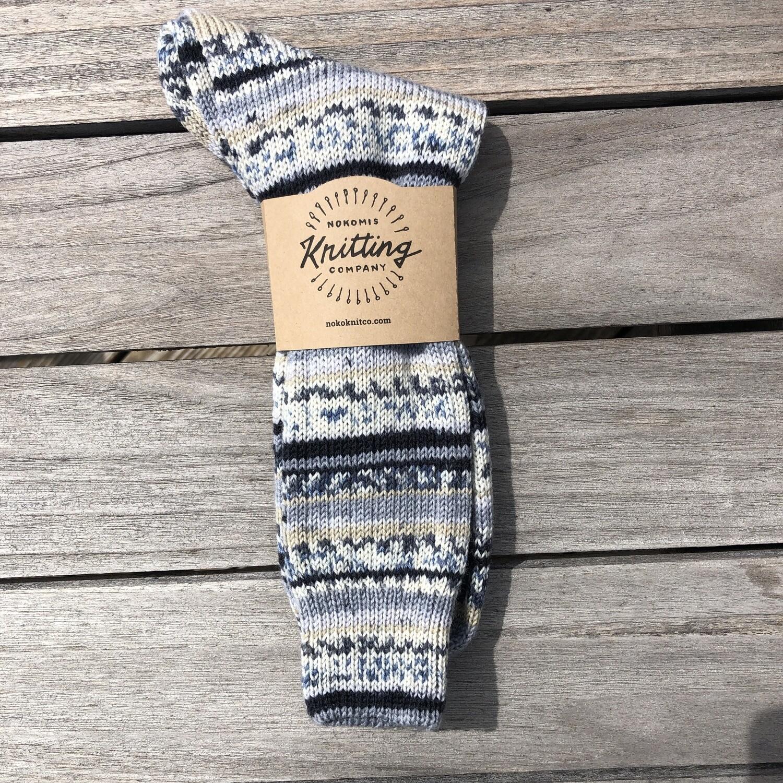 Men's Crew Sock Size 12-13 Smile Stone 5110