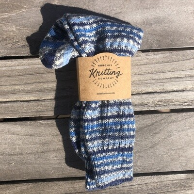Men's Crew Sock Size 8-9 Hurricane Blue - loose fit