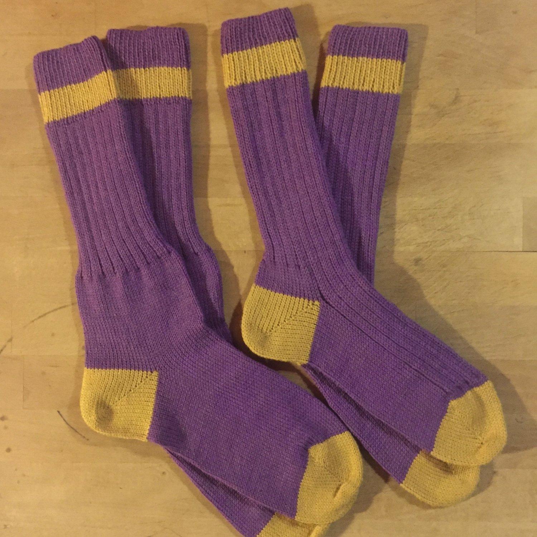 Custom Sock - Purple Pride Custom Made Crew Socks