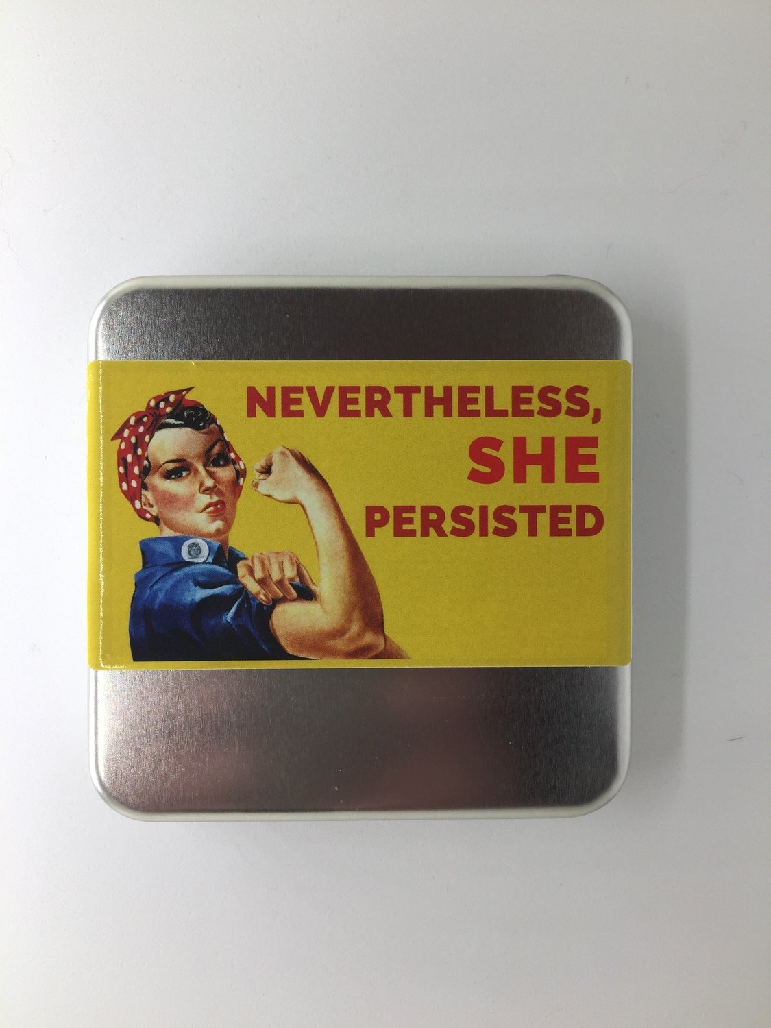 She Persisted Knitter's Toolkit - Vintage Rosie the Riveter Graphic