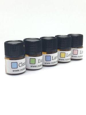 Set of 5 - Dryer Ball Essential Oils Sampler Set -Includes Clean Cotton, Eucalyptus, Lavender, Lemon, Linen