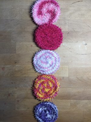 Pinks & Purples Scrubbies