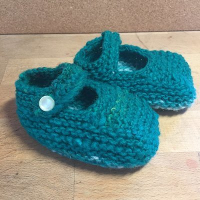 Baby Jane Booties - Green - 6 Months