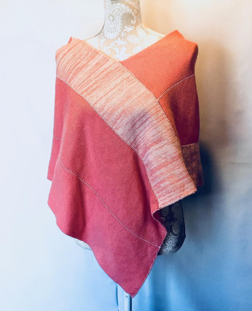 CSM Pattern: One-Point Poncho Knitting Pattern