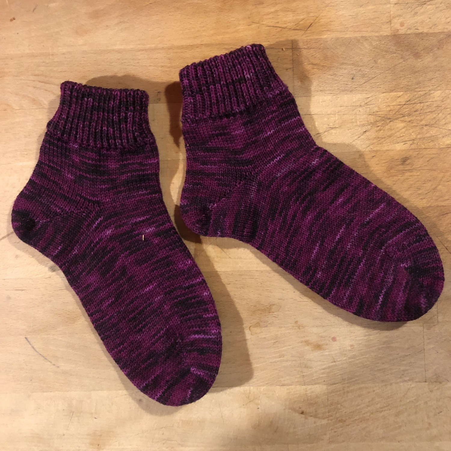 Woman's Low Cuff Hung Purple Tiger 6 - 7