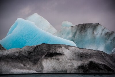 Abstract Icebergs, Iceland