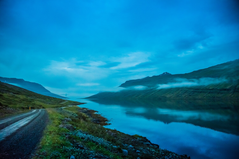 Foggy Fjord, Iceland