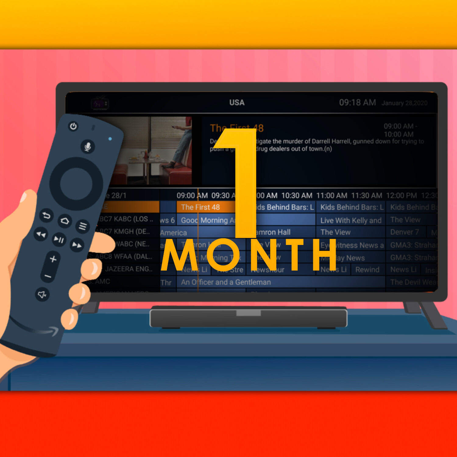 TV Service: 1 Month