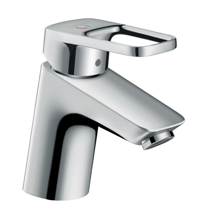 Mitigeur de lavabo Hansgrohe Loop 75 CoolStart en laiton chromé avec tirette et vidage