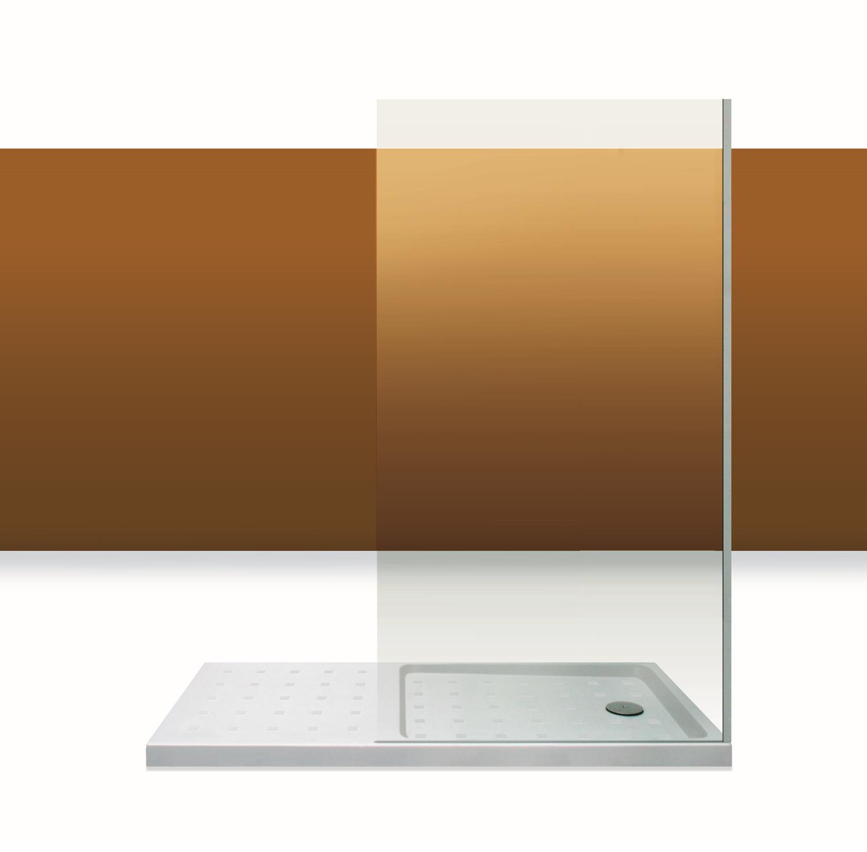Paroi de douche Innovativ en verre trempé d'épaisseur 8 mm avec profilé en inox chromé